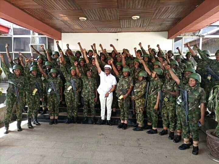 Female Soldiers Deployed To Anambra To Restore Normalcy 3