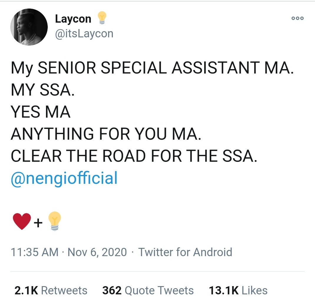 Nengi, Nengi Appointed SSA On Girl Child To Bayelsa Governor. Neo, Laycon, Others React