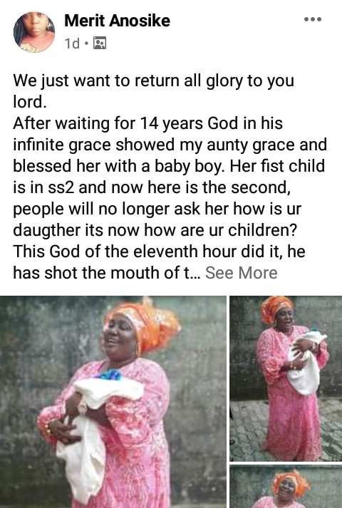 Nigerian Woman Gives Birth To Her Second Child After 14 Years