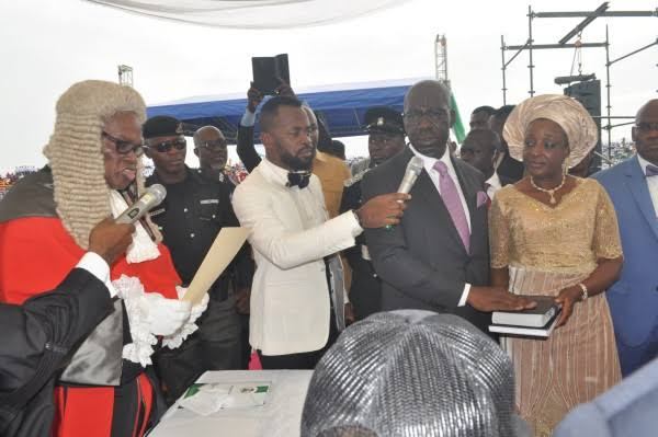 Governor Obaseki and Deputy Sworn-in For Second Term