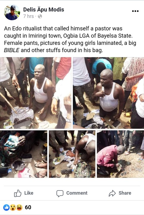 Edo Pastor Caught With Female Pants, Laminated Pictures Of Girls In Bayelsa 5