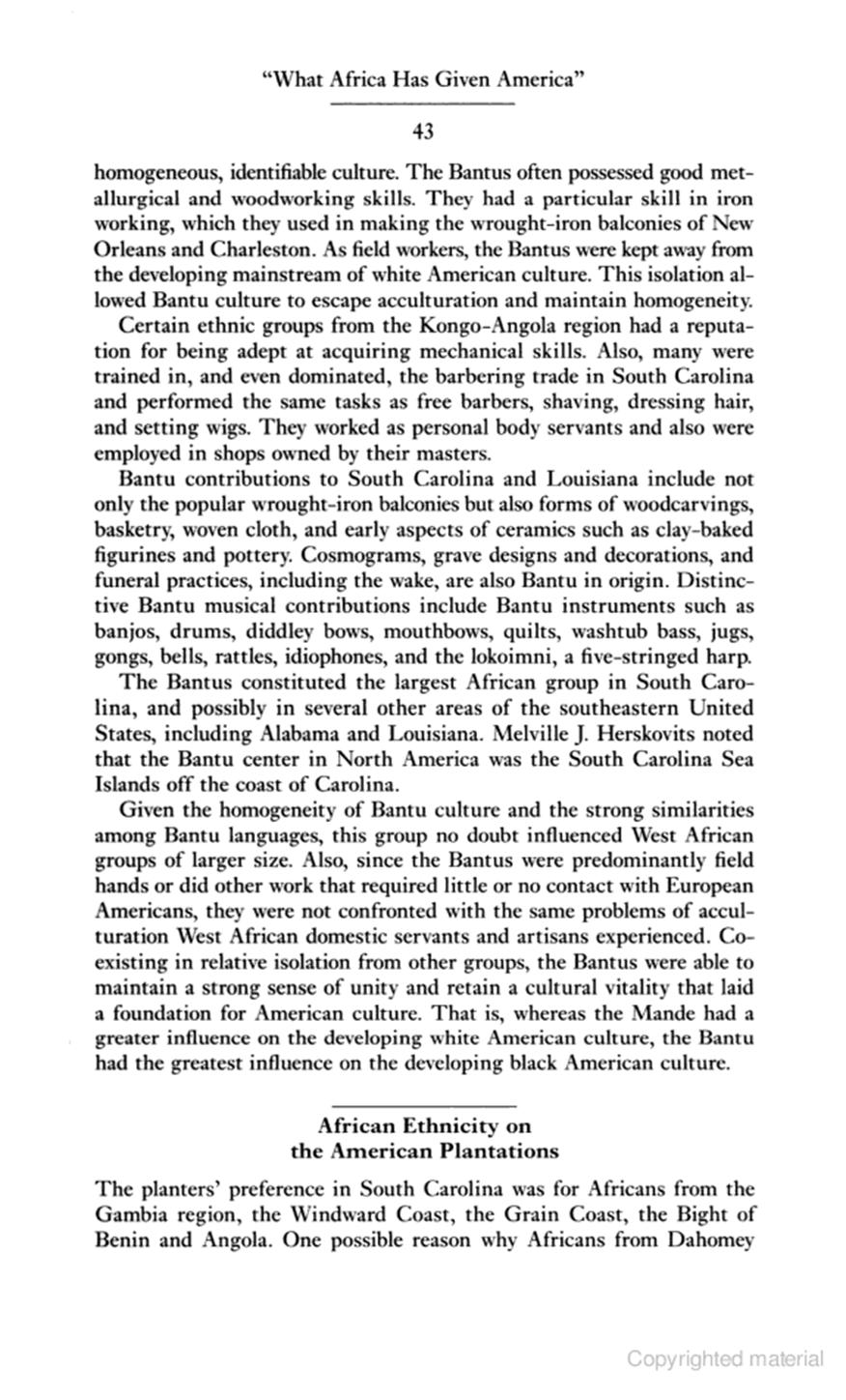 african influence on western culture essay