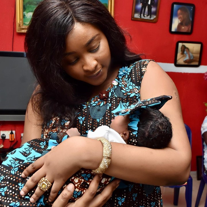 Etinosa shows the Face of Her Daughter, Ofure Izoduwa Christabel (Photos)