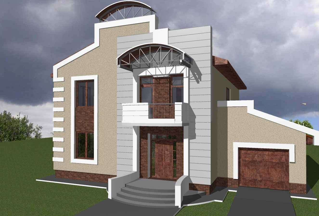 Picture of modern duplex in nigeria joy studio design for Modern duplex house designs