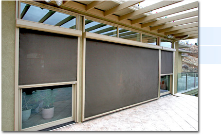 Automatic retractable sun shade screens for your project for Automatic retractable screens