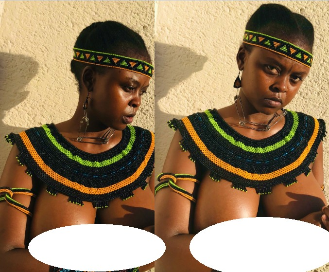South African Lady Goes Topless To Celebrate Her Culture