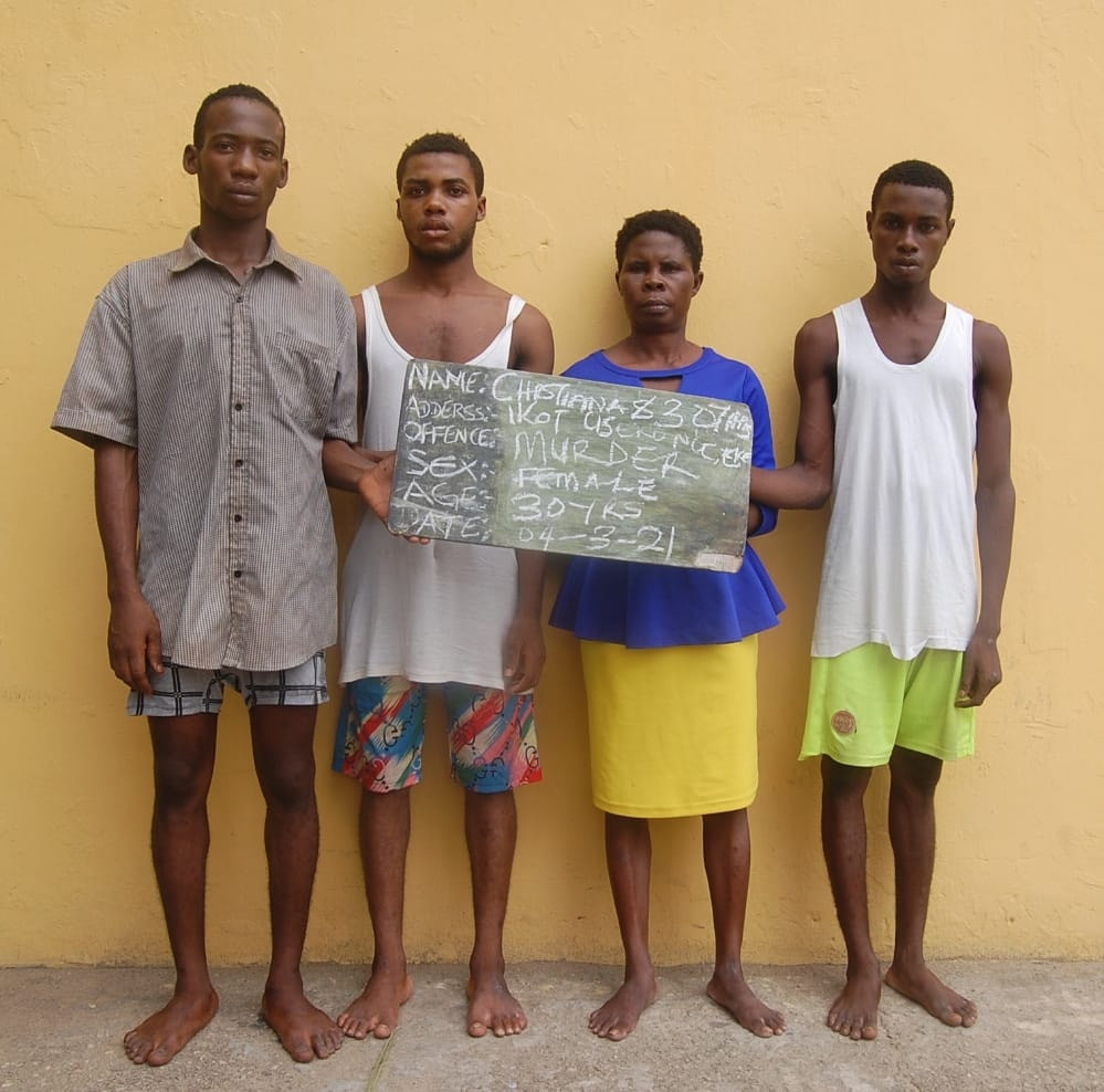 Woman And 4 Others Paraded For The Murder Of Her Stepson In Akwa Ibom