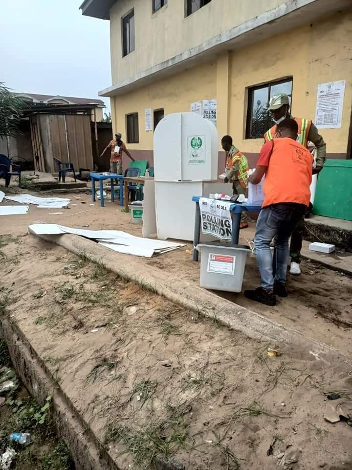 BREAKING: Explosion In Aba Disrupts Voting During Aba North/South Bye-election