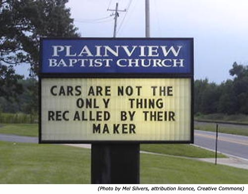 Funny Signs (Outside Church) Buildings - Religion - Nigeria