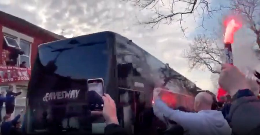 Real Madrid Team Bus Attacked At Anfield By Liverpool Fans