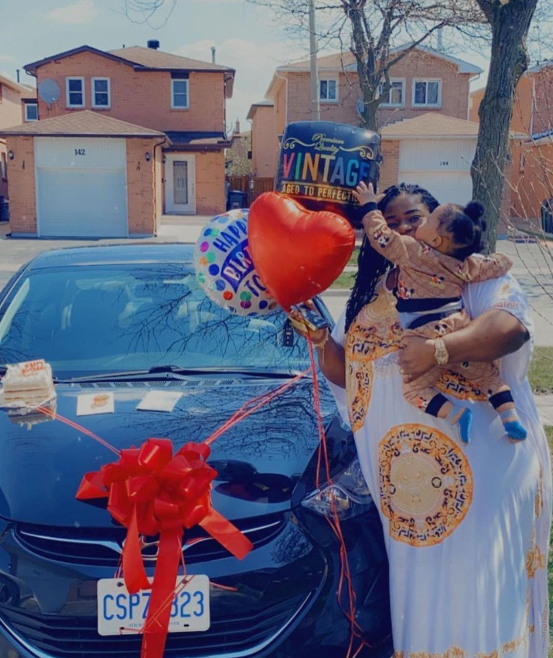 Actor Browny Igboegwu Gifts His Wife A Brand New Car On Her Birthday