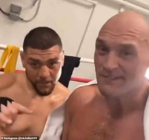 Tyson Fury Trains With UFC fighter Before Anthony Joshua Fight