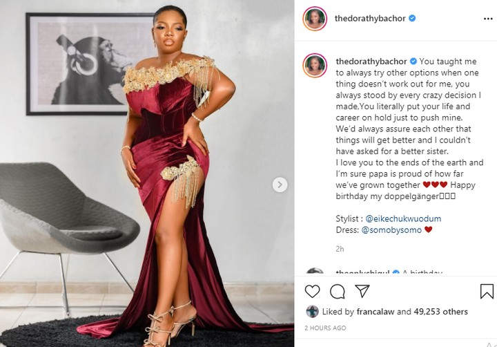 BBN Dorathy Buys A Car For Her Sister As Birthday Gift