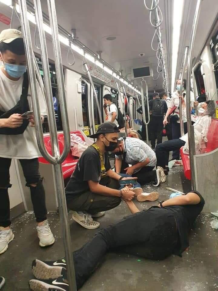 More than 200 people have been injured in a train crash in the Malaysian capital Kuala Lumpur.