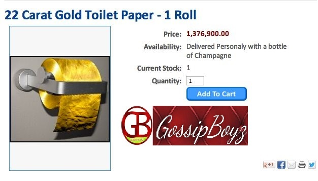 See The World Most Expensive Toilet Roll Made Of 22carat Gold