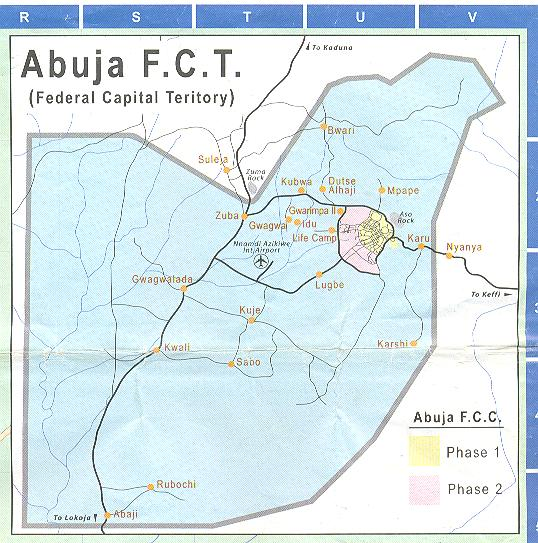 map of abuja