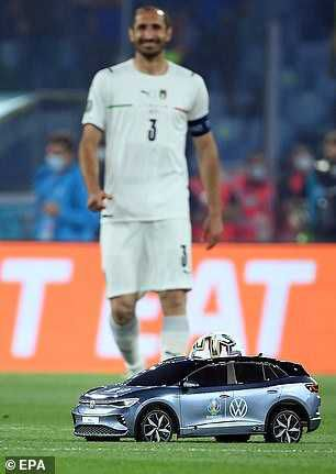 See the Moment a Remote Controlled Car Delivers Match Ball At Euro 2020 Opening Match
