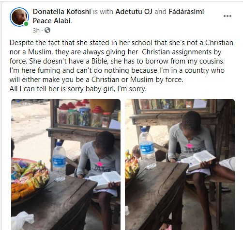 Adetutu Questions Her Daughter's Religious Assignments