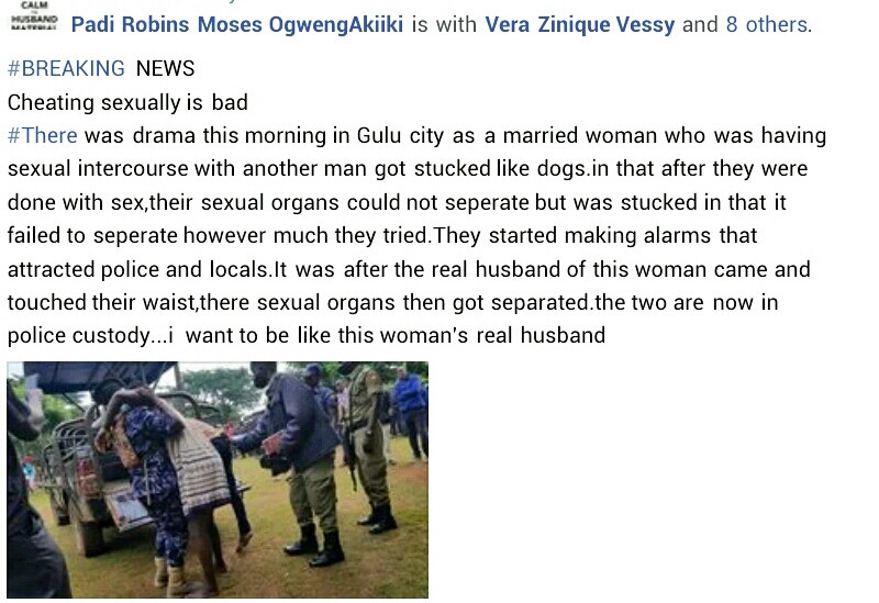 Ugandan Married Woman Gets Stuck To Her Lover During Sex