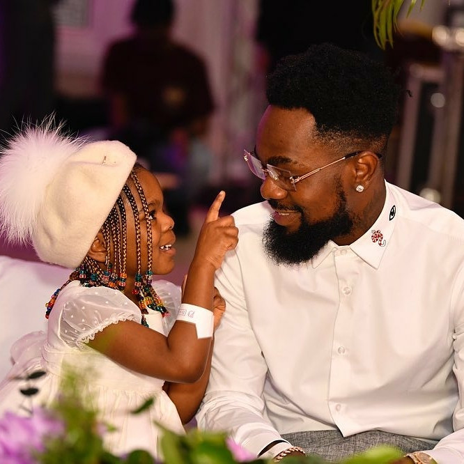 Patoranking shares adorable photos of his daughter, Wilmer, on IG