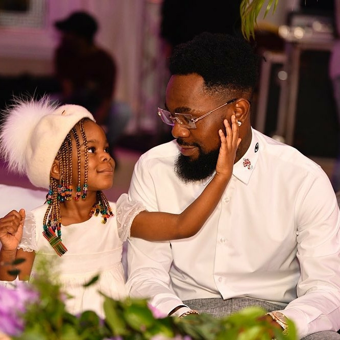 Patoranking and his daughter, Wilmer, on IG