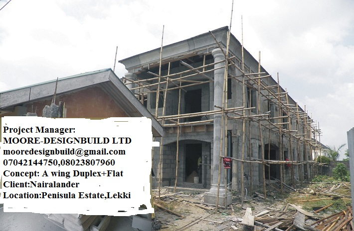 Construction Process Of A Wing Duplex Flat At Ajah Properties 25 Nigeria