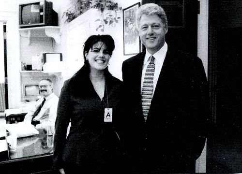 monica lewinsky and bill clinton. *