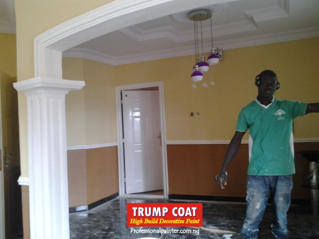 Why are most new houses in nigeria painted cream colors properties nigeria for Cost of painting inside 4 bedroom house