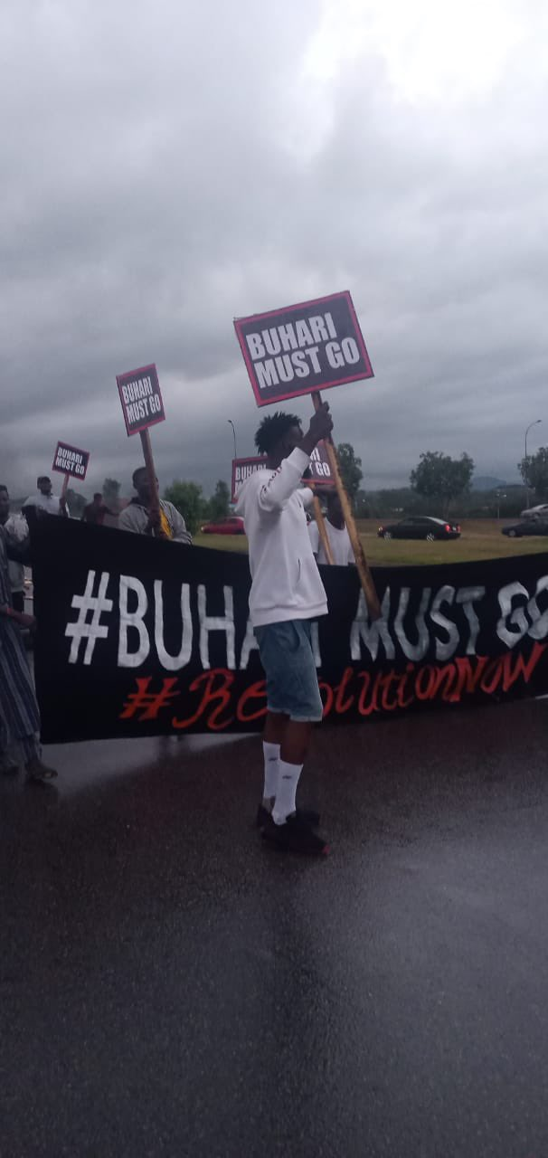 """""""Buhari Must Go"""" Protesters Storm The Streets Of Abuja"""