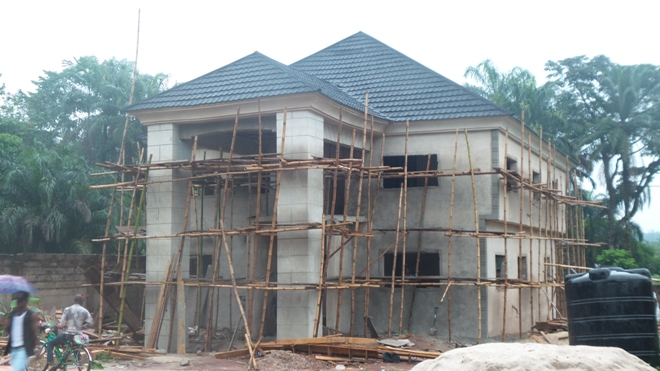 Construction of a 6 bedroom duplex at owerri properties for Nigeria window design