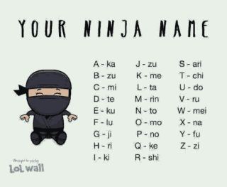 Lets Drop Our Ninja Name       Lets Have Fun     - Jokes Etc