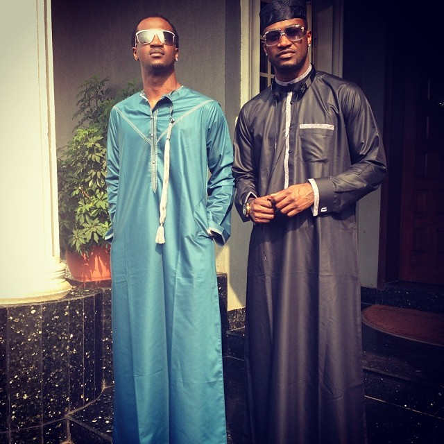 Photo : Peter & Paul Okoye In Jalabiya's.