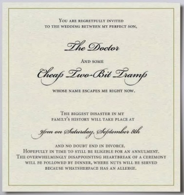 official marriage invitation
