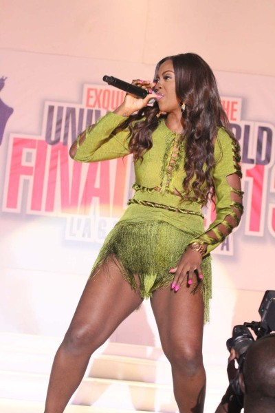 Picture Of Tee Billz Amp Tiwa Savage His Hand On Her Butt