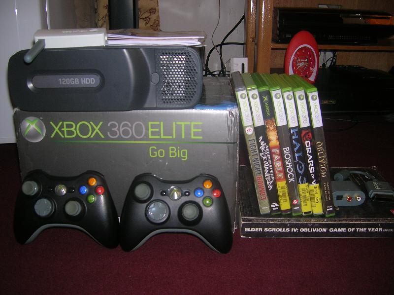 Xbox 360 Elite- 120gb Hdd, 2 Pads, Lots Of Games ...