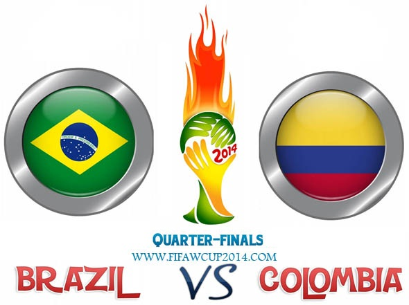 Brazil Vs Colombia: World Cup 2014 Quarter-finals (2 - 1) On 4th.
