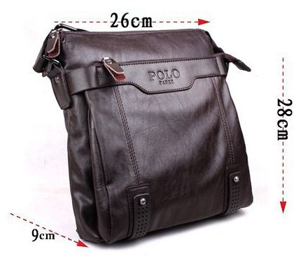 07038465582. Re  2014 Brand POLO Pu+genuine Leather Bags For Men Shoulder  ... 7bce43a13856e