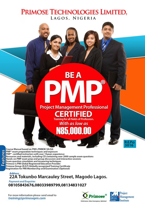Project Management Professional Exam Preparation Boot Camp Lagos