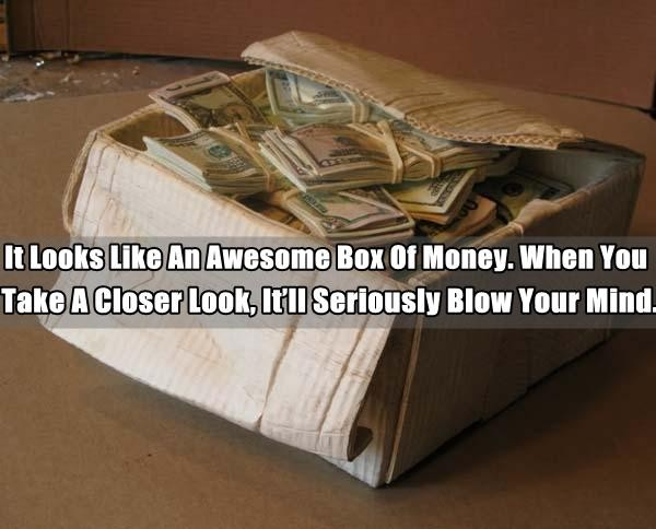 Awesome wood carving to create an illusion of a box of for Awesome money box