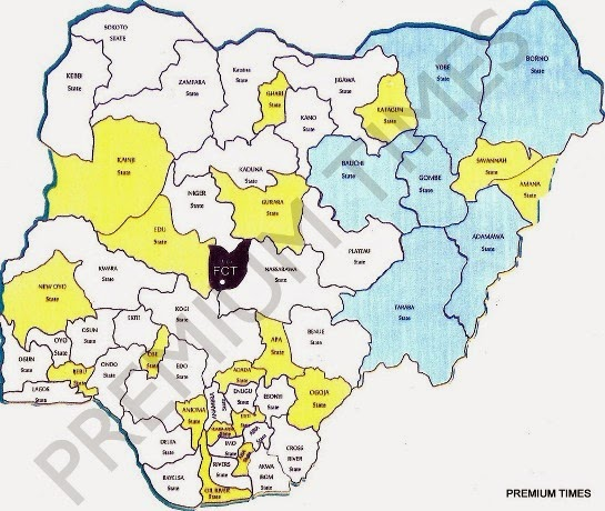 Photo New Map Of Nigeria As Proposed By Delegates Of National
