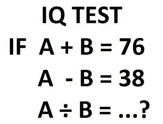 Easy iq test questions with answers