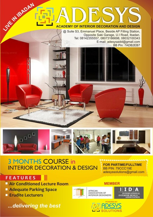 Study And Get A Certificate In Interior Decoration And Design In