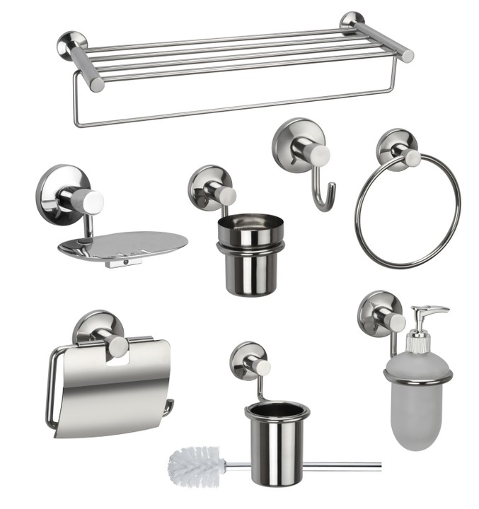 Picture gallery of modern home improvement materials you for Bathroom accessories combo