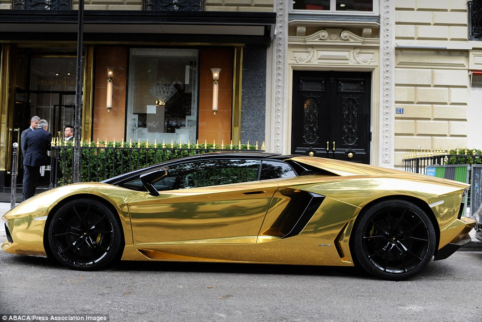 Gold Plated Lamborghini Spotted In Paris With Customised