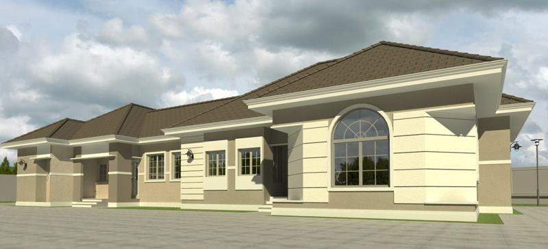 Home plans for bungalows in nigeria properties 2 for 4 bedroom flat bungalow plan