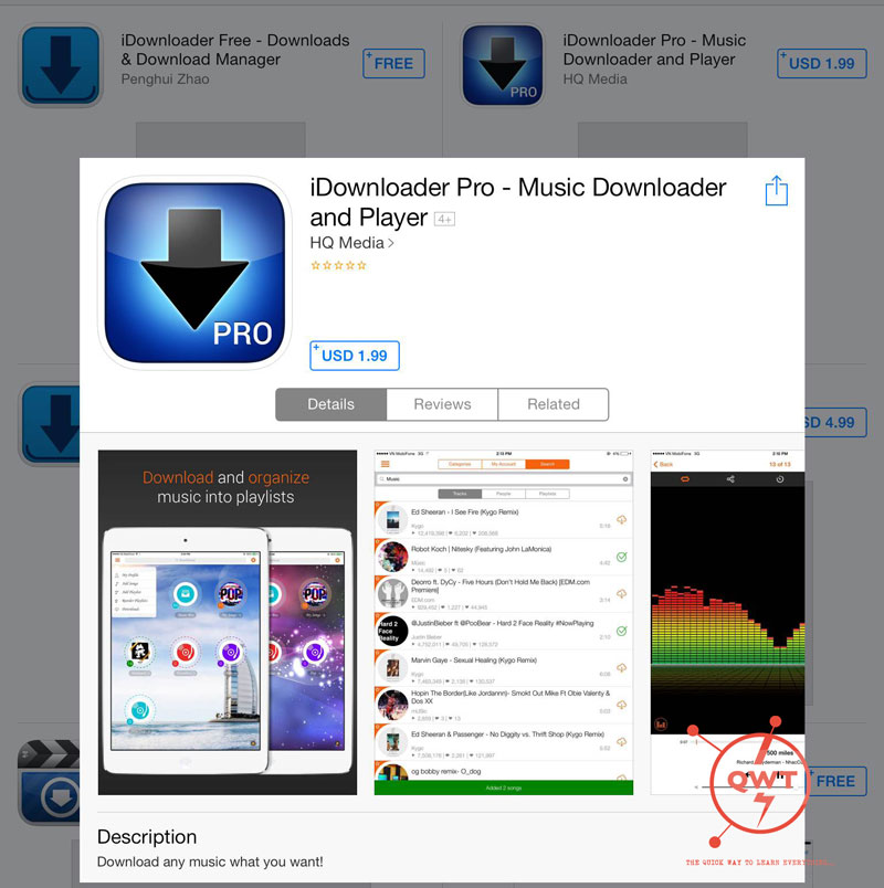Best free music apps for iphone:offline without internet/wifi.