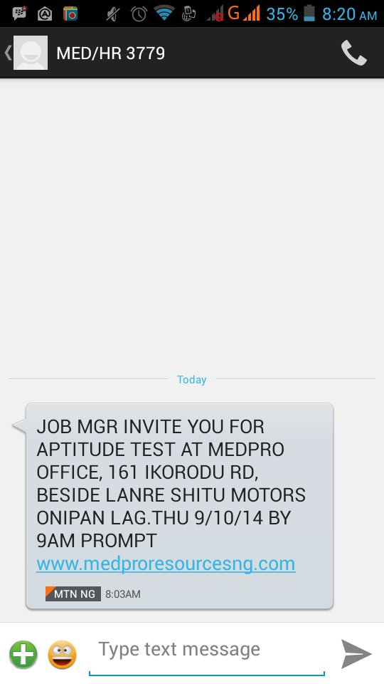 Is medpro global resources a genuine company jobsvacancies 1 i got this same sms from this peopleank god i google iteven their webpage as indicated in sms cant open nairaland peps kuduos o stopboris Choice Image