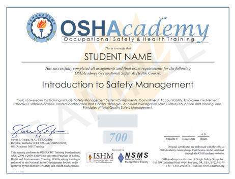 How to receive cheaper osha safety classes via your for Osha 10 certificate template