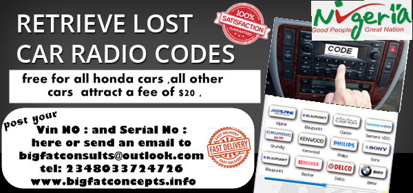 Free Honda Radio Unlock Codes Up To Year 2009 K K Business Asoc Ltd Autos 111 Nigeria