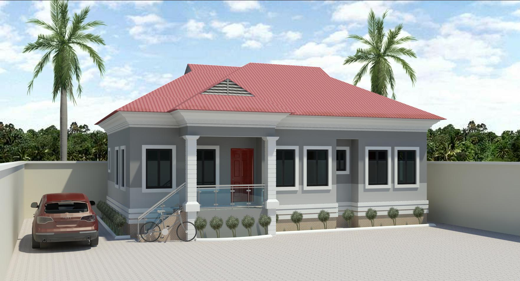 3bedroom bungalow designs in nigeria joy studio design for Free 3 bedroom bungalow house plans